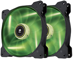 Corsair Air Series SP140 Green LED Fan Twin Pack