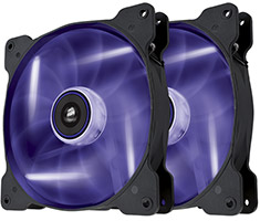 Corsair Air Series SP140 Purple LED Fan Twin Pack