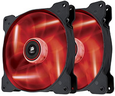Corsair Air Series SP140 Red LED Fan Twin Pack