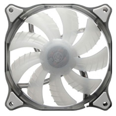 Cougar D12HB White LED Fan 120mm