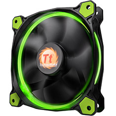 Thermaltake Riing 12 High Static Pressure 120mm Green LED Fan