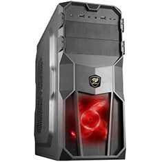 Cougar MX200 Black Mid Tower Case with 500W PSU
