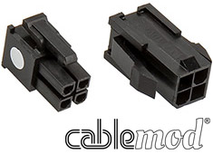 CableMod ModFlex Connector Pack 4pin ATX Black