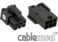 CableMod ModFlex Connector Pack 6pin PCI-E Black