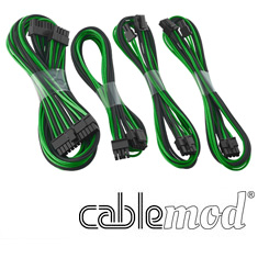 CableMod C-Series AXi, HXi & RM Basic Cable Kit Black/Green