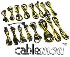 CableMod C-Series AXi, HXi & RM Cable Kit Black/Yellow