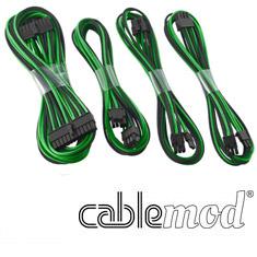 CableMod E-Series G2 & P2 Basic Cable Kit Black/Green