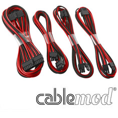 CableMod E-Series G2 & P2 Basic Cable Kit Black/Red