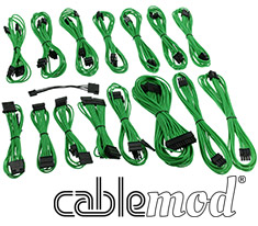 CableMod E-Series G2 & P2 Cable Kit Green