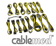 CableMod E-Series G2 & P2 Cable Kit Black/Yellow