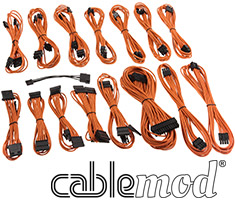 CableMod E-Series G2 & P2 Cable Kit Orange