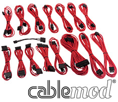 CableMod E-Series G2 & P2 Cable Kit Red