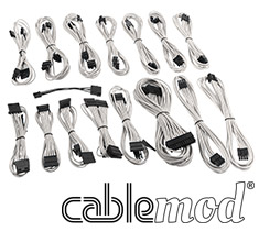 CableMod E-Series G2 & P2 Cable Kit White