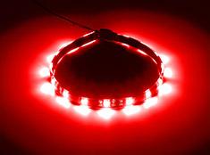 CableMod WideBeam Foam Adhesive LED Strip Red 30cm