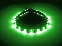 CableMod WideBeam Magnetic LED Strip Green 30cm