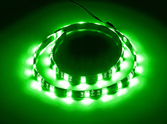 CableMod WideBeam Magnetic LED Strip Green 60cm