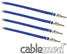 CableMod ModFlex Sleeved Wire 24in Blue 4 Pack