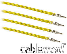 CableMod ModFlex Sleeved Wire 8in Yellow 4 Pack