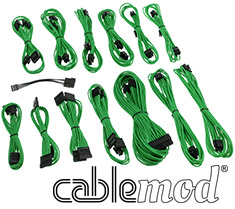 CableMod SE-Series KM3, XP2, XP3 & FL2 Cable Kit Green