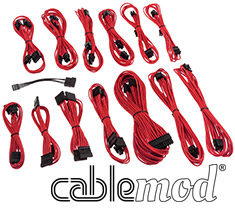 CableMod SE-Series KM3, XP2, XP3 & FL2 Cable Kit Red