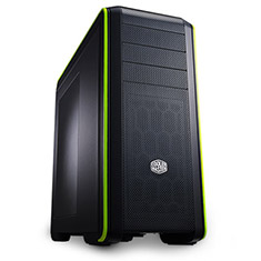 CoolerMaster CM690 III Mid Tower Case with Window Green
