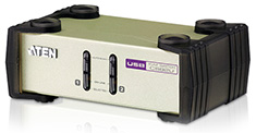 ATEN CS-82U 2 Port Desktop PS2-USB KVM Switch