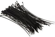 200mm Black Cable Ties 100 Pack