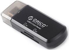 Orico Mini USB 3.0 SDHC/MicroSD Card Reader Black