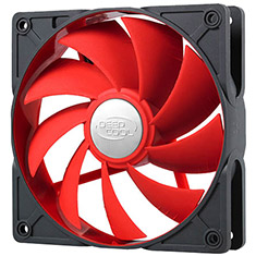 Deepcool Ultra Silent 120mm Ball Bearing Red Case Fan