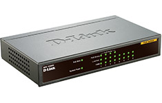 D-Link DES-1008PA 8 Port Metal Desktop Switch with 4 PoE Ports