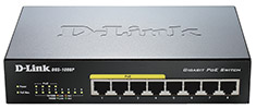 D-Link DGS-1008P 8 Port Gigabit PoE Unmanaged Switch