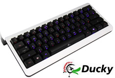Ducky Mini Dual LED Backlit Mech Keyboard Cherry Red