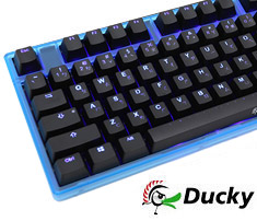Ducky One Blue LED Mech Keyboard Cherry Brown - Blue Case