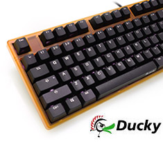 Ducky One White LED Mech Keyboard Cherry Blue - Orange Case