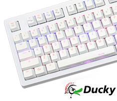 9a73ac22fa Ducky Shine 4 Dual LED White Mechanical Keyboard Cherry Blue ...
