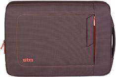 STM Jacket 11in Laptop Sleeve Chocolate/Orange