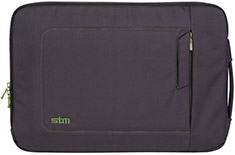 STM Jacket 17in Laptop Sleeve Black/Green