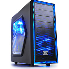 Deepcool Tesseract SW Mid Tower Chassis Black/Blue