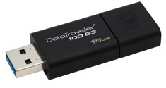 Kingston Data Traveler 100 G3 16GB USB 3.0 Flash Drive