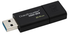 Kingston Data Traveler 100 G3 USB 3.0 Flash Drive 64GB