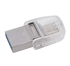 Kingston DataTraveler MicroDuo 3C 32GB USB 3.1 Flash Drive