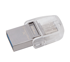 Kingston DataTraveler MicroDuo 3C 64GB USB 3.1 Flash Drive