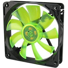 GELID Wing 12 120mm Gamer Fan Green