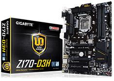 Gigabyte Z170-D3H Motherboard