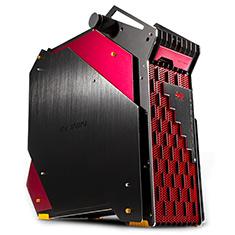 In Win H Frame King Size Aluminum Case Black Red