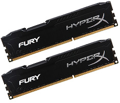 Kingston HyperX Fury HX318C10FBK2/8 8GB (2x4GB) DDR3 Black