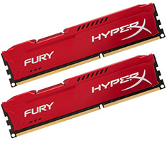 Kingston HyperX Fury HX318C10FRK2/8 8GB (2x4GB) Red