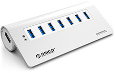 Orico 7 Port Aluminium USB 3.0 Hub