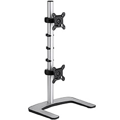 Atdec Visidec Freestanding Vertical LCD Dual Monitor Stand