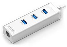 mBeat 3 Port USB 3.0 Hub with Gigabit Lan